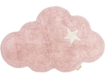 Teppich aus Baumwolle in Rosa