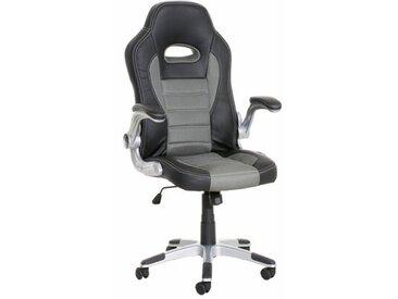 Gaming Stuhl aus Leder / Netz mit Armlehnen