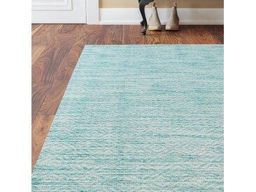 Innen-/Außen-Teppich Mccullough in Aquamarin