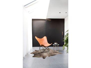 Teppich Bonaventure aus Kuhfell in Grau
