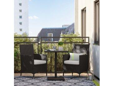 2-Sitzer Balkonset mit Polster