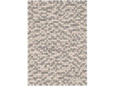 Handgefertigter Teppich Hella aus Schaffell in Beige