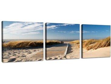 3-tlg. Leinwandbilder-Set Ostseelandschaft