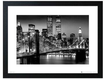 Poster Manhattan in Schwarz-Weiß