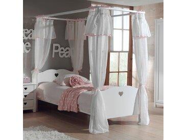 Himmelbett Aldridge mit Textil-Vorhang, 90 x 200 cm