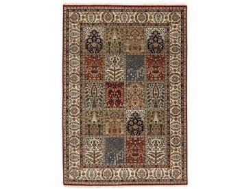 Handgefertigter Teppich aus Wolle in Braun/Rot