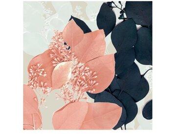 Matt Fototapete Blätter Indigo & Rouge III 1,92 m x 192 cm
