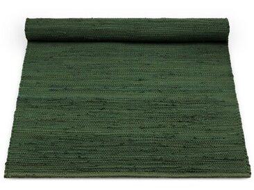 Handgewebter Baumwollteppich in Grün