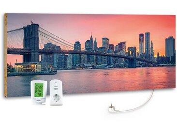 Horizontaler Designer-Heizkörper City Sunset