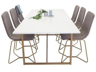 Essgruppe Nevels mit 6 Stühlen