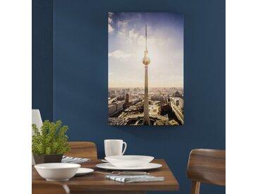 """Leinwandbild """"Großstadt Fernsehturm, Berlin City"""", Fotodruck"""