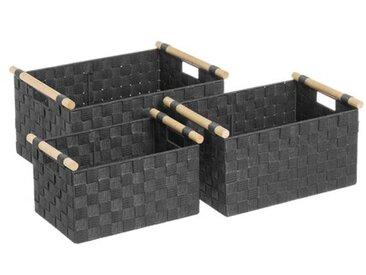 3-tlg. Korb-Set aus Kunststoff