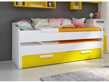 Bett Claudia mit Ausziehbett und Schubladen, 90 x 200 cm
