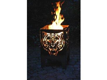 Gartenkamin Tiger aus Stahl