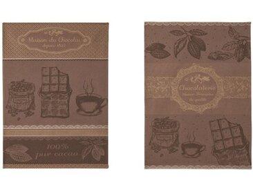 2-tlg. Geschirrtuch-Set Chocolate House