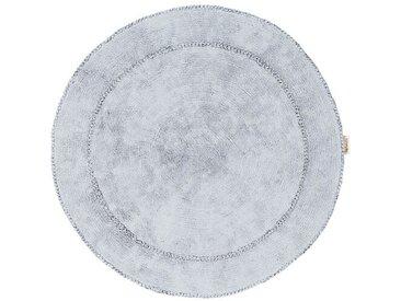 Teppich aus Baumwolle in Grau