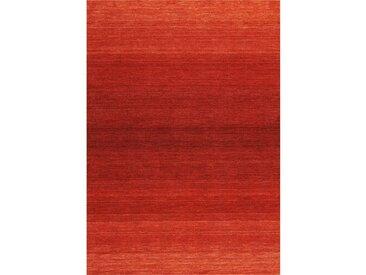 Handgefertigter Teppich aus Wolle in Rot