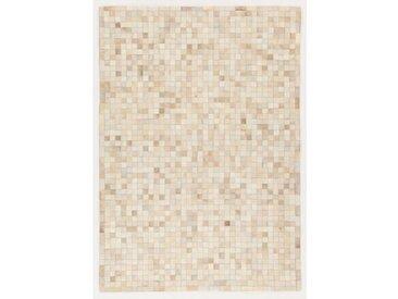 Teppich Patchwork in Beige