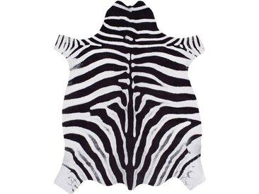 Handgefertigter Teppich Geraghty Zebra aus Kuhfell in Schwarz/Weiß