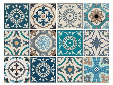 12-tlg. Selbstklebendes Mosaikfliesen-Set Juni aus PVC
