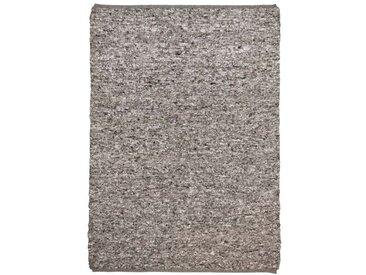 Handgefertigter Wollteppich Sandy in Grau