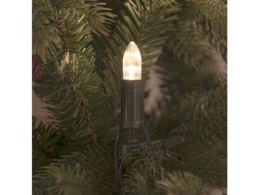 LED-Lichterkette 16-flammig in Weiß/Schwarz