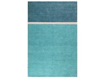 Handgefertigter Kelim-Teppich Calippo aus Baumwolle in Grün