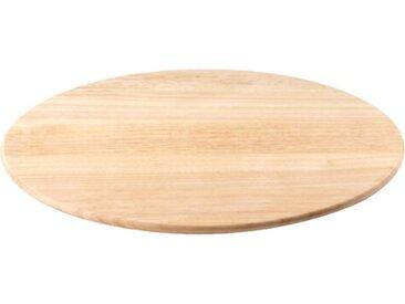 Drehplatte Classic aus Gummibaumholz in Natur