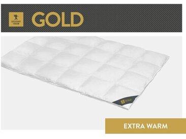 Bettdecke Gold 100 % Gänsedaunen (Extra Warm)