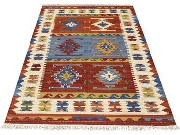Handgefertigter Kelim-Teppich aus Wolle