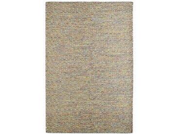Handgefertigter Kelim-Teppich Craighead aus Wolle in Beige