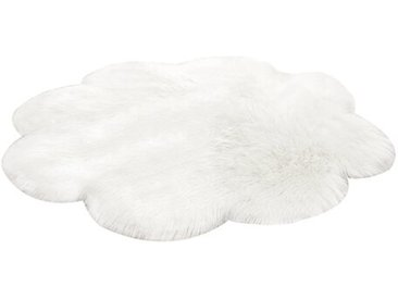 Shaggy-Teppich Oundle aus Schaffell in Weiß