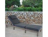 Verstellbare Gartenliege Balch mit Auflage
