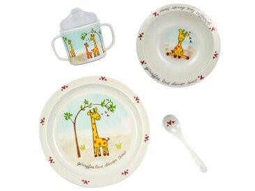 4-tlg. Kindergeschirr-Set Giraffe aus Melamin