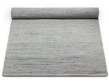 Handgewebter Flachgewebe-Teppich aus Baumwolle in Grau