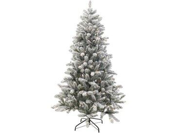 Künstlicher Weihnachtsbaum 182,9 cm Schnee mit 220 grünen und weißen Leuchten