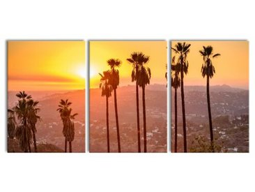 3-tlg. Leinwandbilder-Set Blick auf Hollywood