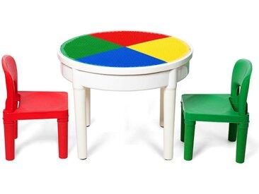 3-tlg. Kinder Tisch und Stuhl-Set Shaw