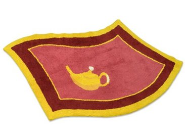 Teppich Teekessel aus Baumwolle in Rot