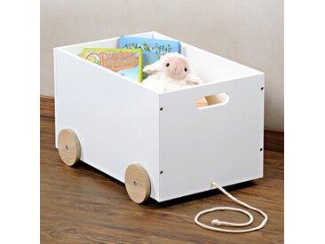 Spielzeugkiste Mit Rollen, Weiß