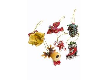 4-tlg. Baumschmuck-Zubehör-Set Weihnachtsanhänger