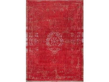 Flachgewebe-Teppich aus Baumwolle in Grau