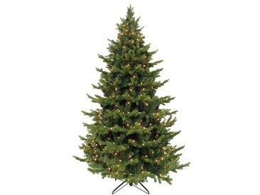 Künstlicher Weihnachtsbaum 213 cm Grün mit 288 LED-Leuchten und Ständer Deluxe