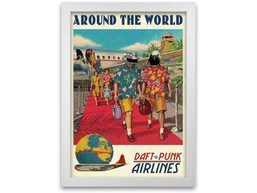 Poster Around The World Daft Punk Airlines von David Redon
