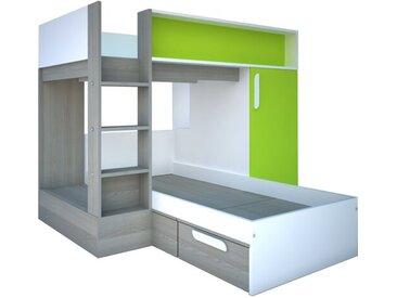 Vinehall Einzel-L-förmiges Etagenbett mit Stauraum