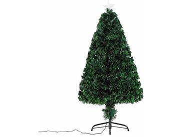 Künstlicher Weihnachtsbaum 120 cm Grün mit 130 LED-Leuchten mit  Ständer
