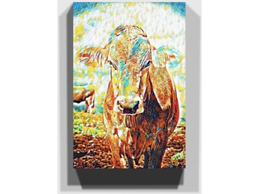Leinwandbild Kuh auf der Wiese (1)