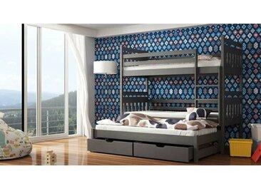 Etagenbett Kraft mit Ausziehbett und Schubladen, 90 x 190 cm