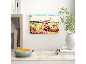 Leinwandbild Kuh auf der Weide (1)