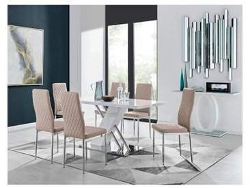 Essgruppe Janine mit 6 Stühlen